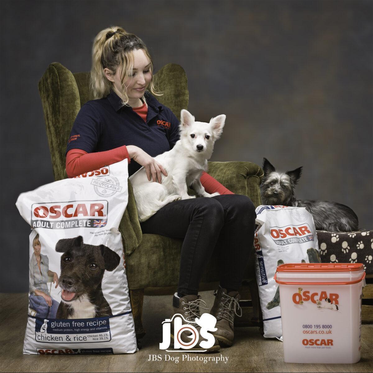 Poppy from OSCAR Pet Foods with Bella & Ziggy